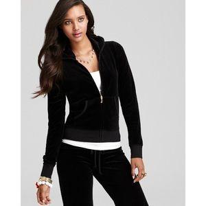 Juicy Couture Velour Black Zip Up Hoodie S